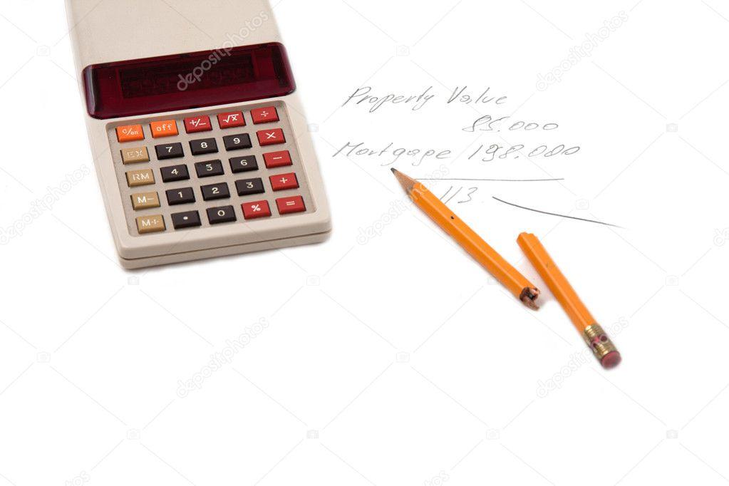 vzhůru nohama Hypoteční kalkulačka \u2014 Stock Fotografie
