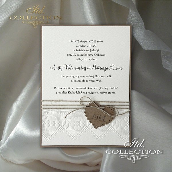Zaproszenie 2028 - Ekologiczne zaproszenia ślubne