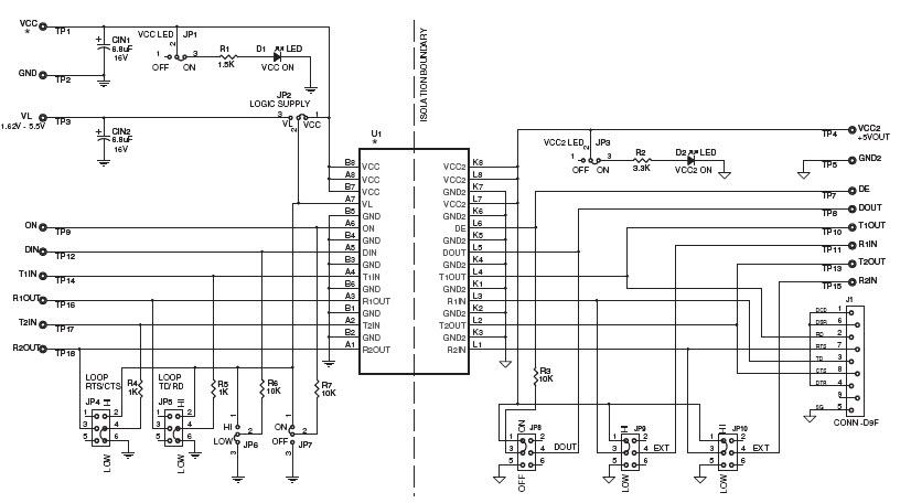 rs232 isolator schematic