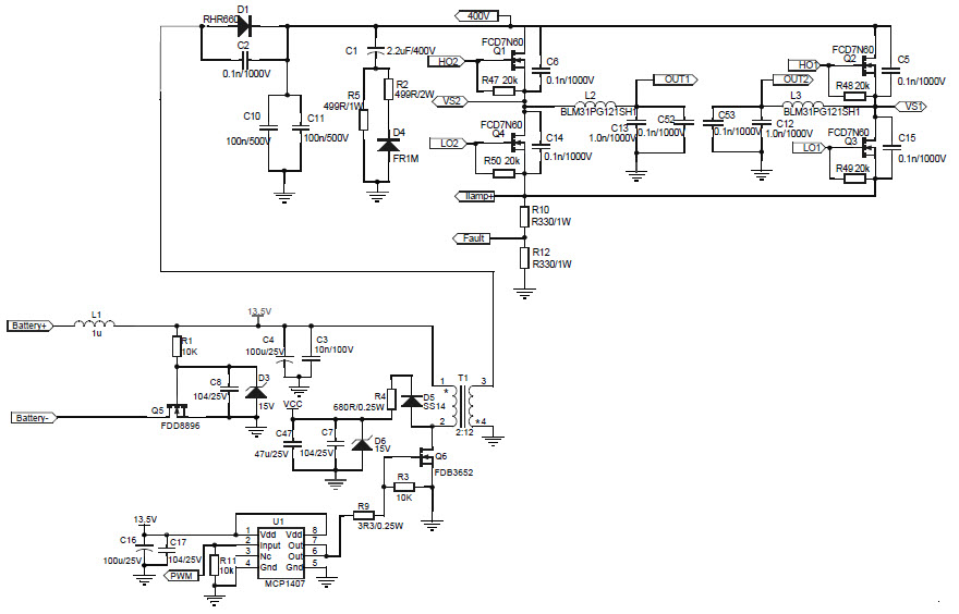 hid ballast schematic diagram