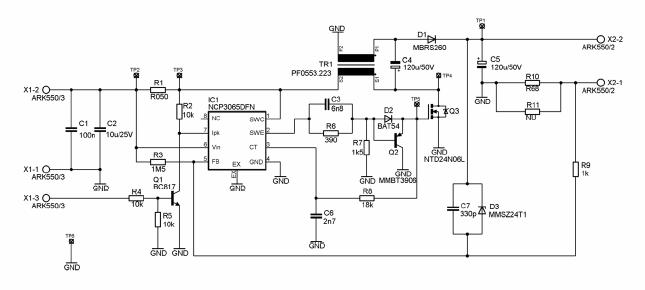 1w led driver circuit schematic