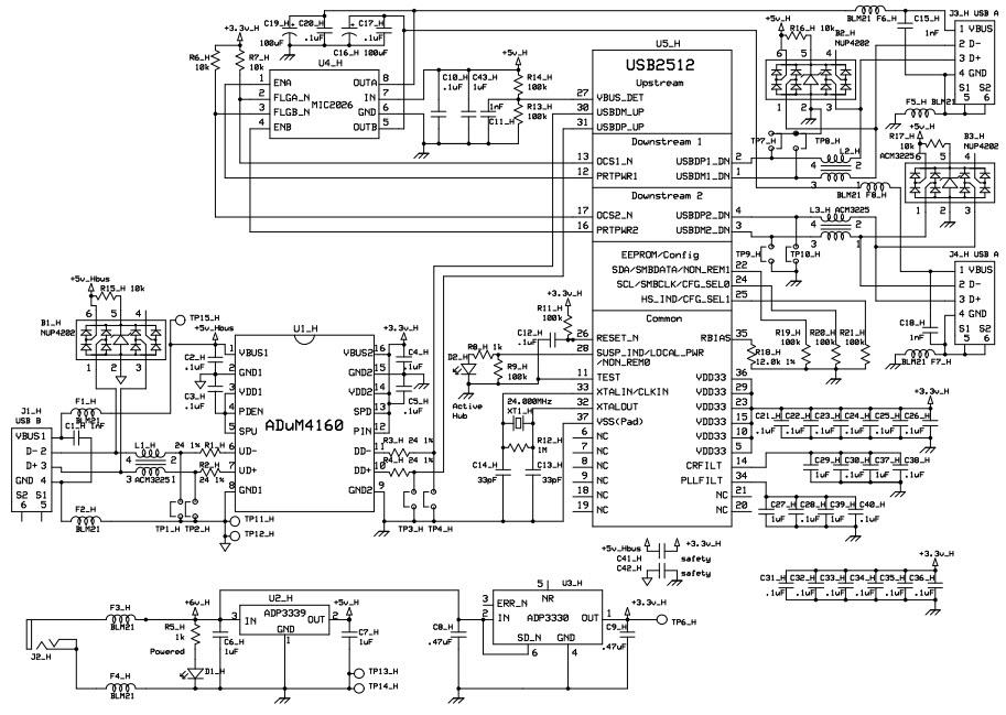 usb isolator schematic