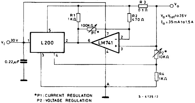 programmable voltage regulator using l200 ic