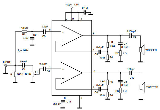 20w car radio power amplifier using tda2005
