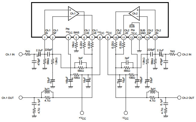 5 channel car amplifier wiring diagram