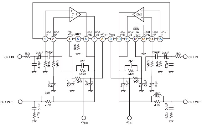 4 channel stereo power amplifier