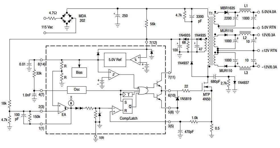 pin diagram of uc