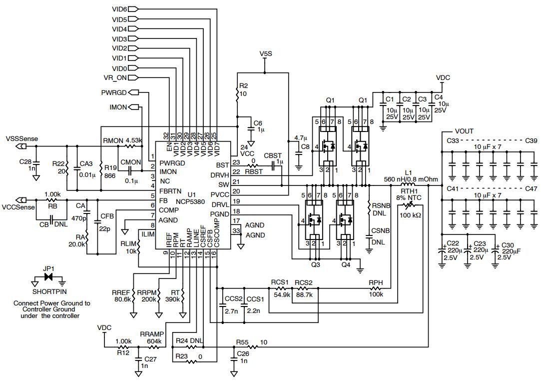 typical synchronous buck regulator circuit