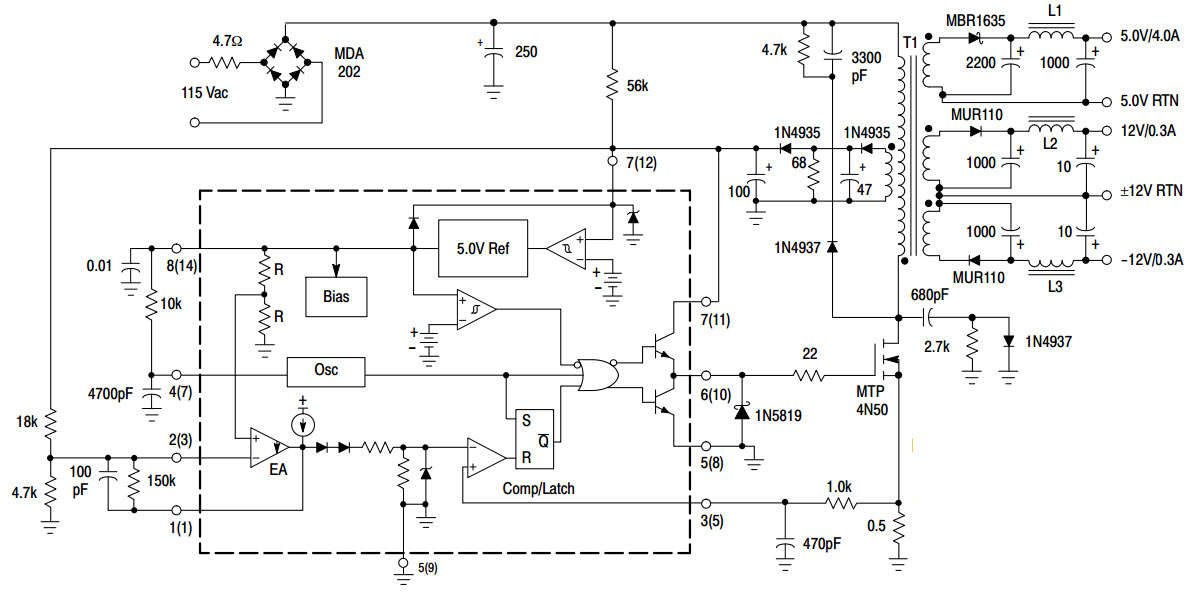 typical mosfet inverter circuit diagram