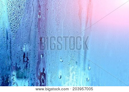 Natural Water Drop Backgroundwindow Glass With Condensation, Strong - water droplets background