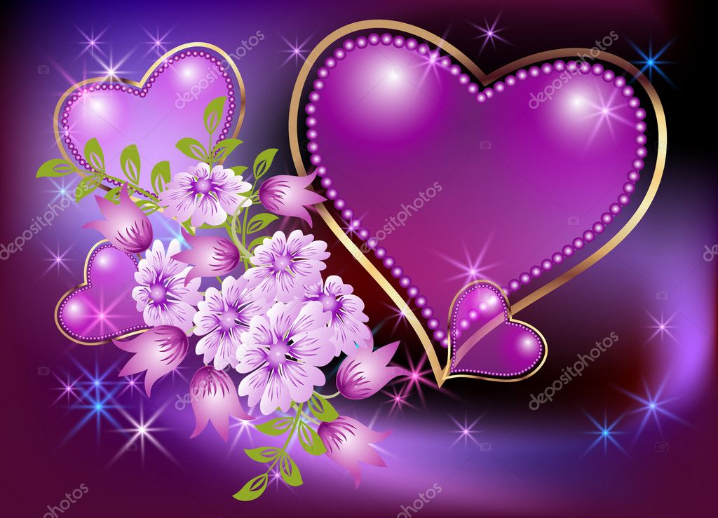 Barbie 3d Live Wallpaper Glowing Background With Hearts And Stars Stock Vector