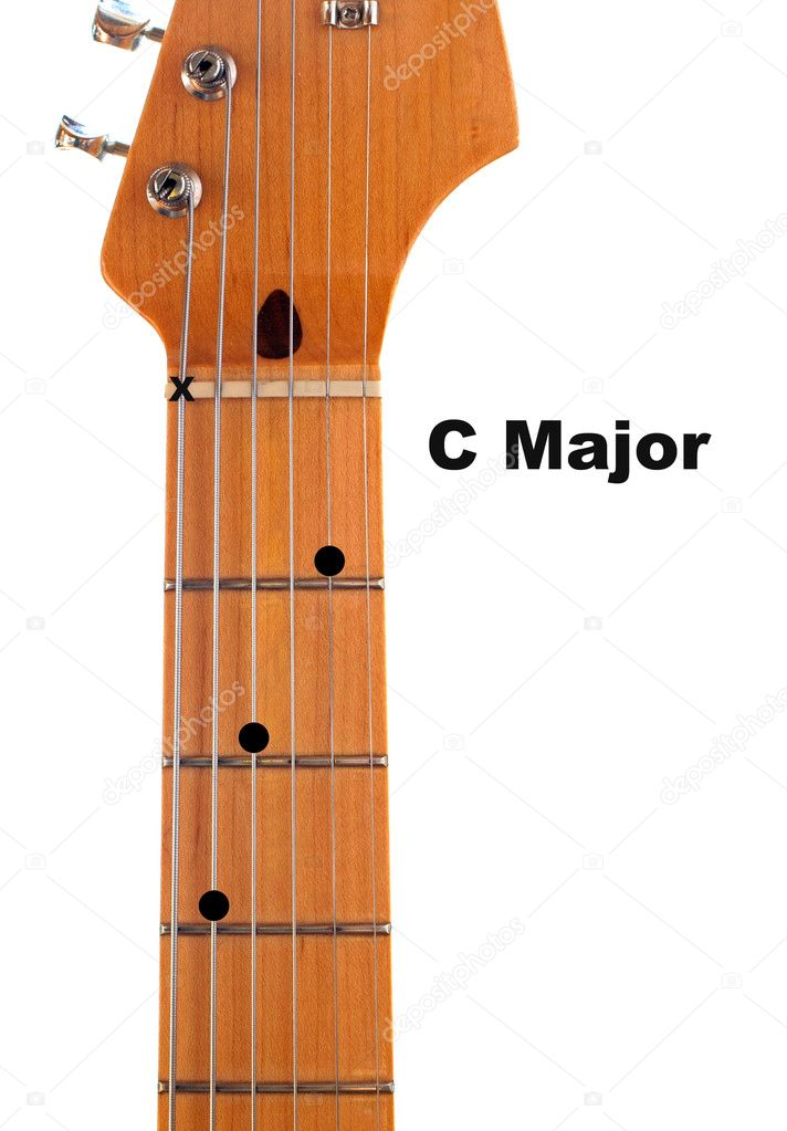 C Major Guitar Chord Diagram \u2014 Stock Photo © deepspacedave #5347537
