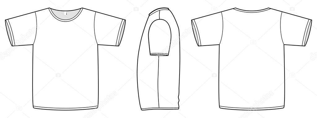 Basic unisex T-shirt template vector illustration \u2014 Stock Vector - t shirt template