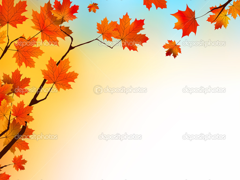 Free Falling Leaves Live Wallpaper Autumn Background With Maple Leaves And Blue Sky Stock