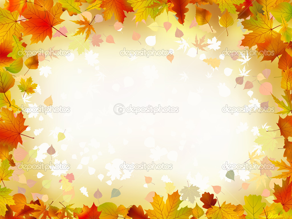 Falling Leaves Live Wallpaper Download Autumn Leaves Border For Your Text Stock Vector 3972501