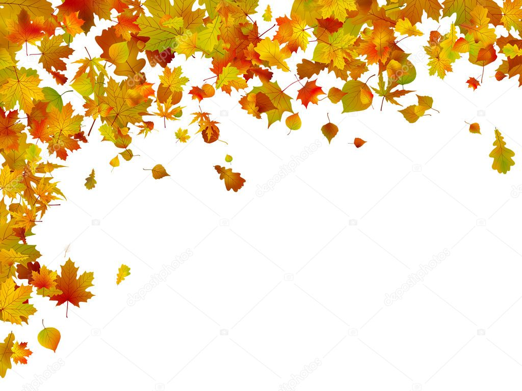 Tree With Leaves Falling Wallpaper Background Of Autumn Leaves Eps 8 Stock Vector
