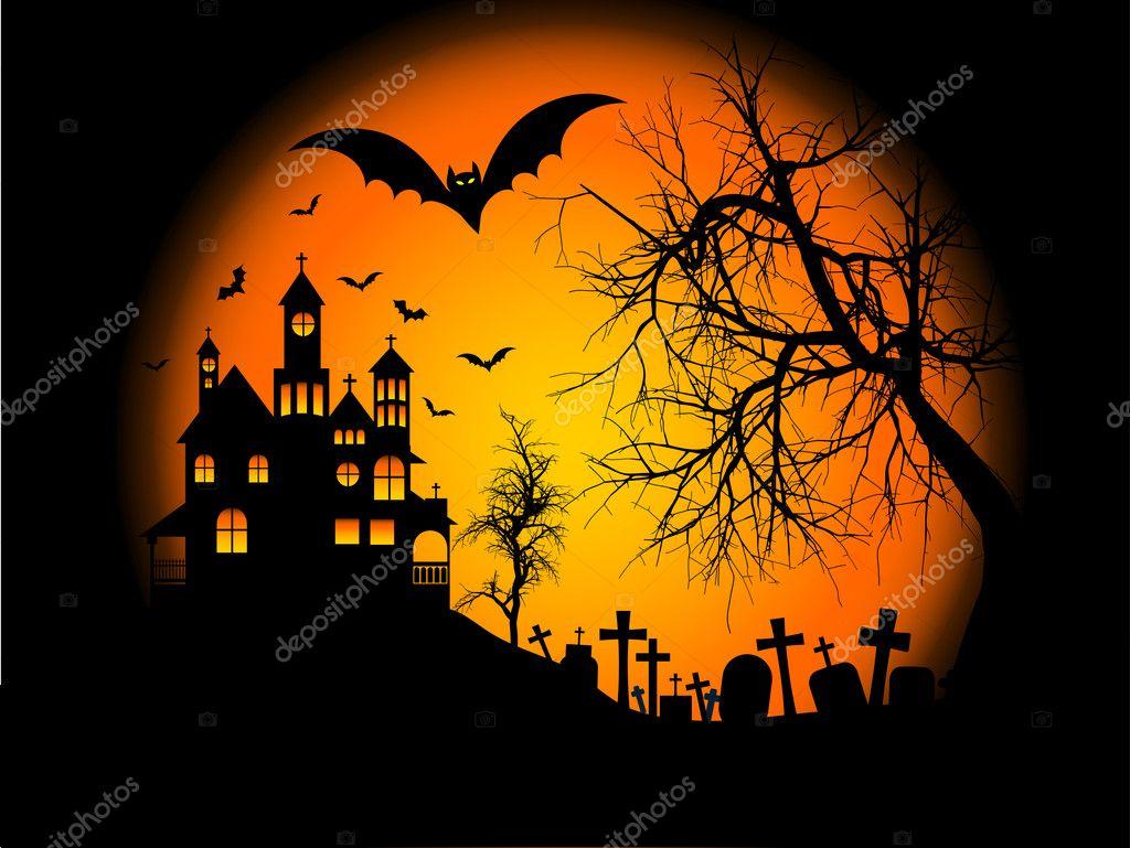 Desktop Wallpaper Fall Scenes Halloween Background Stock Photo 169 Kjpargeter 5047792