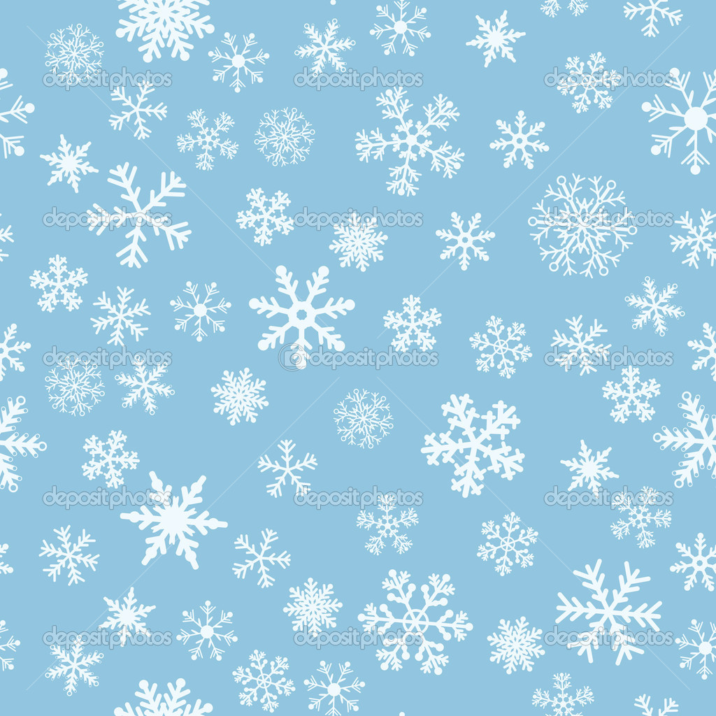 Falling Snow Live Wallpaper For Pc Snow Seamless Light Blue Vector Background Stock Vector