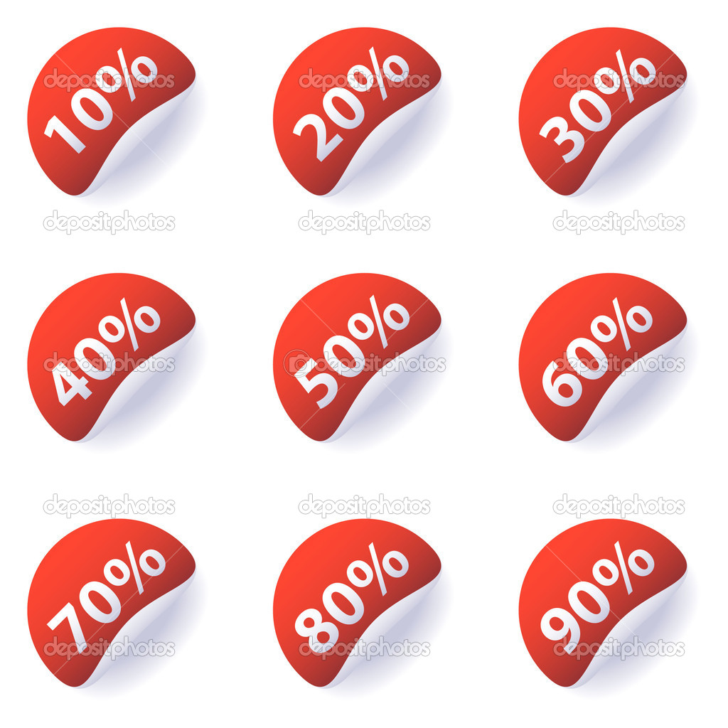 Discount Labels Stock Illustration