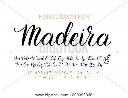 Handwritten Script font Hand drawn brush style modern calligraphy