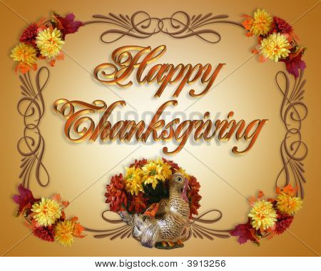 Happy Thanksgiving Card Turkey Poster ID3913256