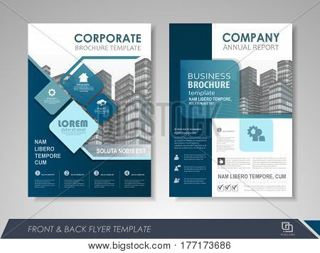 Modern blue Brochure design, Brochure template, Brochures, Brochure