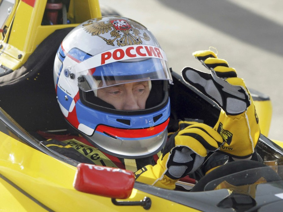 Putin likes speed; In 2010 he took a test drive of a Renault Formula One car at a racing track in Leningrad. He reached the maximum speed of 240 km per hour.