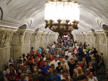 Nine million commuters are said to ride the Moscow Metro every day. That's more than London and New York combined.