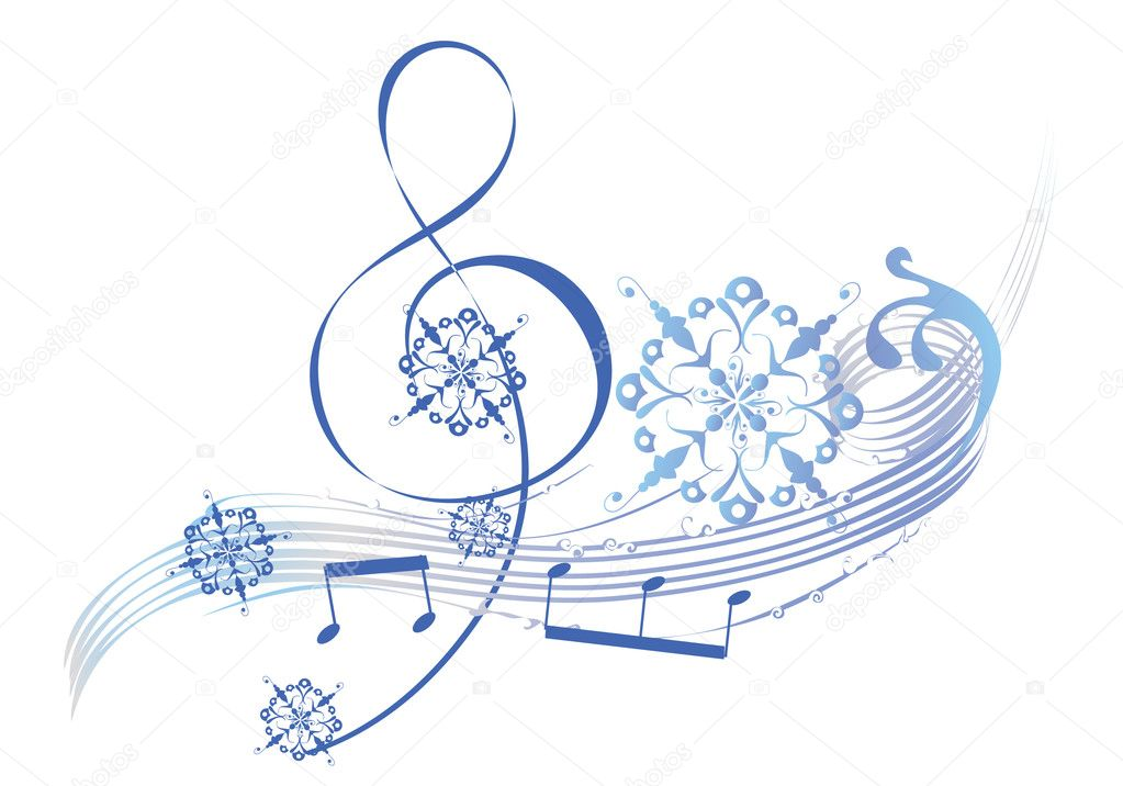 Christmas Falling Snow Wallpaper Note 3 Art Musical Treble Clef Stock Vector 169 Laifalight 6535565
