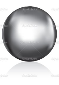 Silver metal ball  Stock Vector  Joingate #5663753