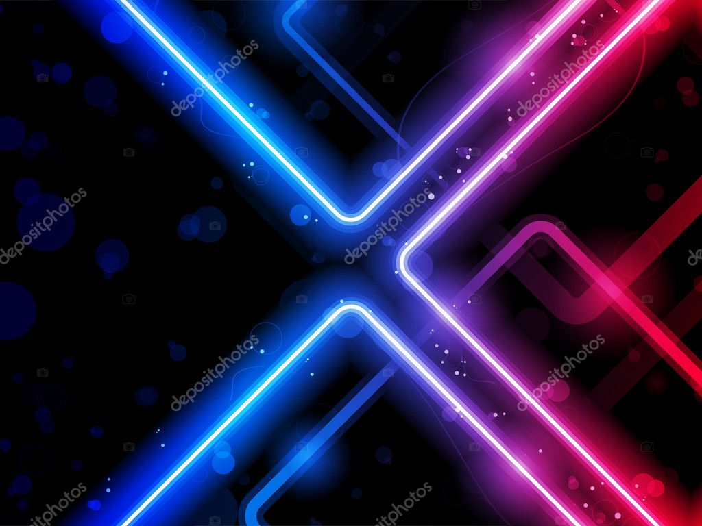3d Effect Live Wallpapers Rainbow Lines Background Neon Laser Stock Vector