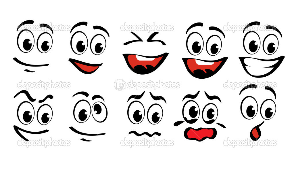 Cartoon faces \u2014 Stock Vector © Iraidka #6018052