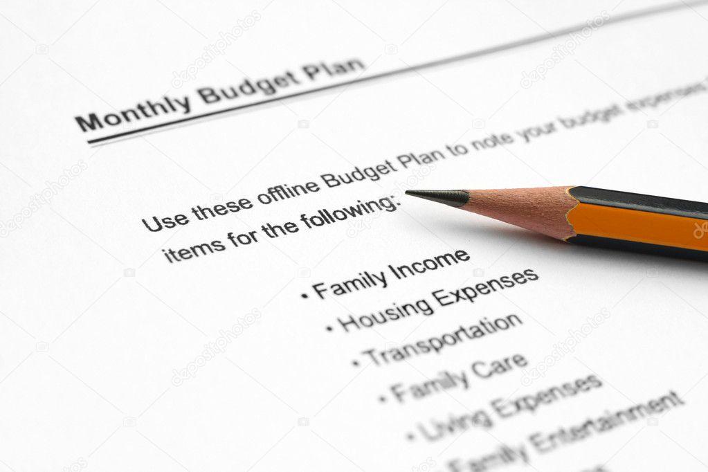 plan de presupuesto mensual \u2014 Fotos de Stock © alexskopje #6598145 - presupuesto mensual