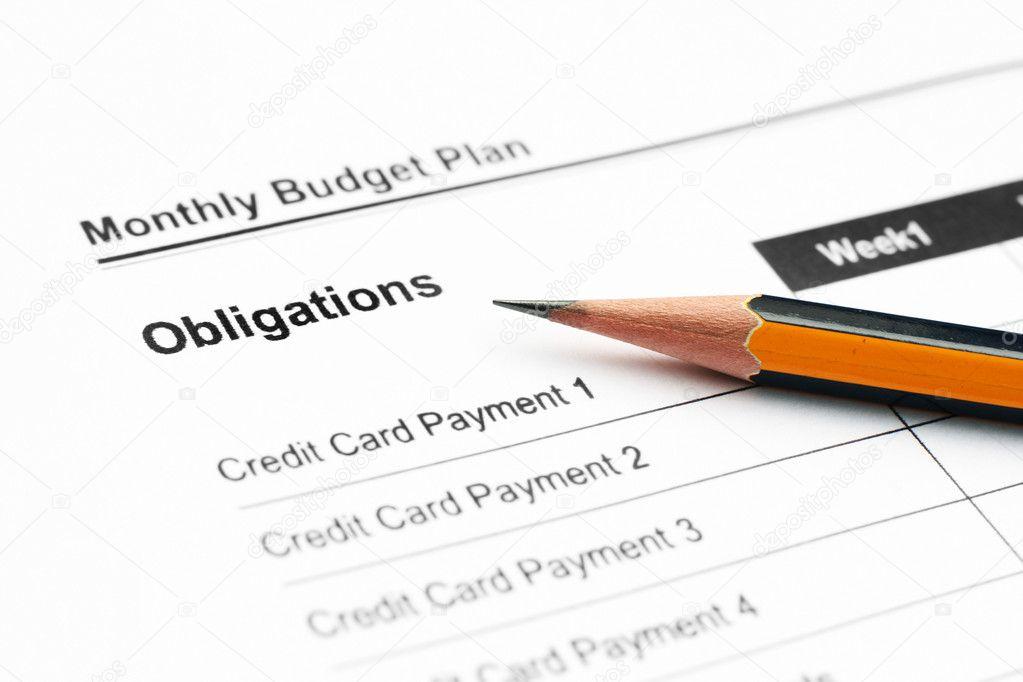 plan de presupuesto mensual \u2014 Foto de stock © alexskopje #6598305 - presupuesto mensual