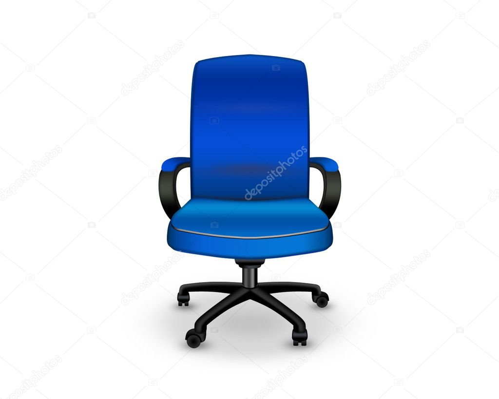 Blue Office Chair Blue Office Chair Stock Photo 5751003