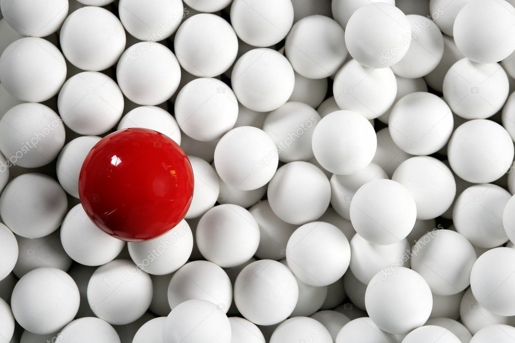 3d Wallpaper Pool Table Alone One Billiard Red Ball Little White Balls Stock