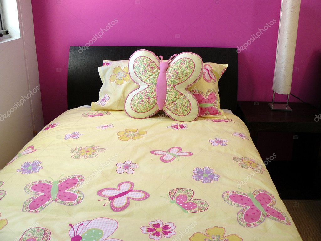 Pink And Yellow Bedrooms Pink And Yellow Butterfly Bedroom Stock Photo Scarfe