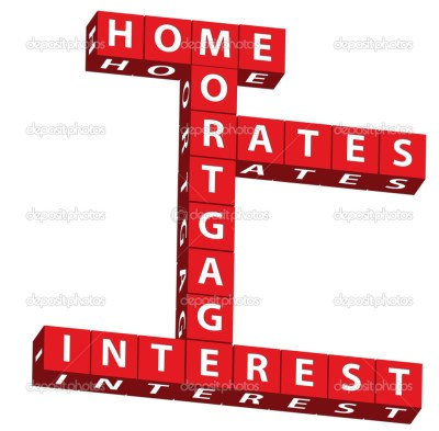 Home mortgage interest rates — Stock Photo © karenr #6323849