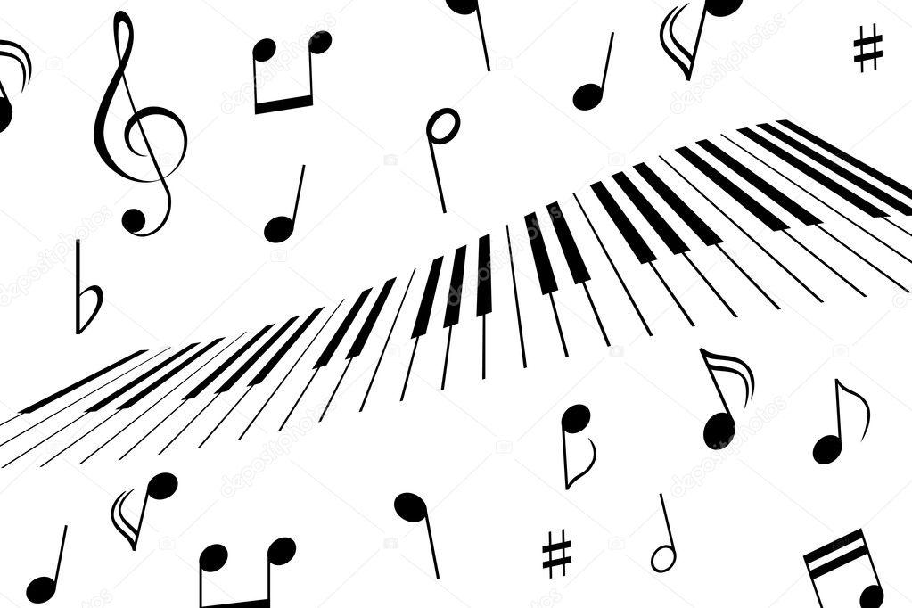 piano notes and keys