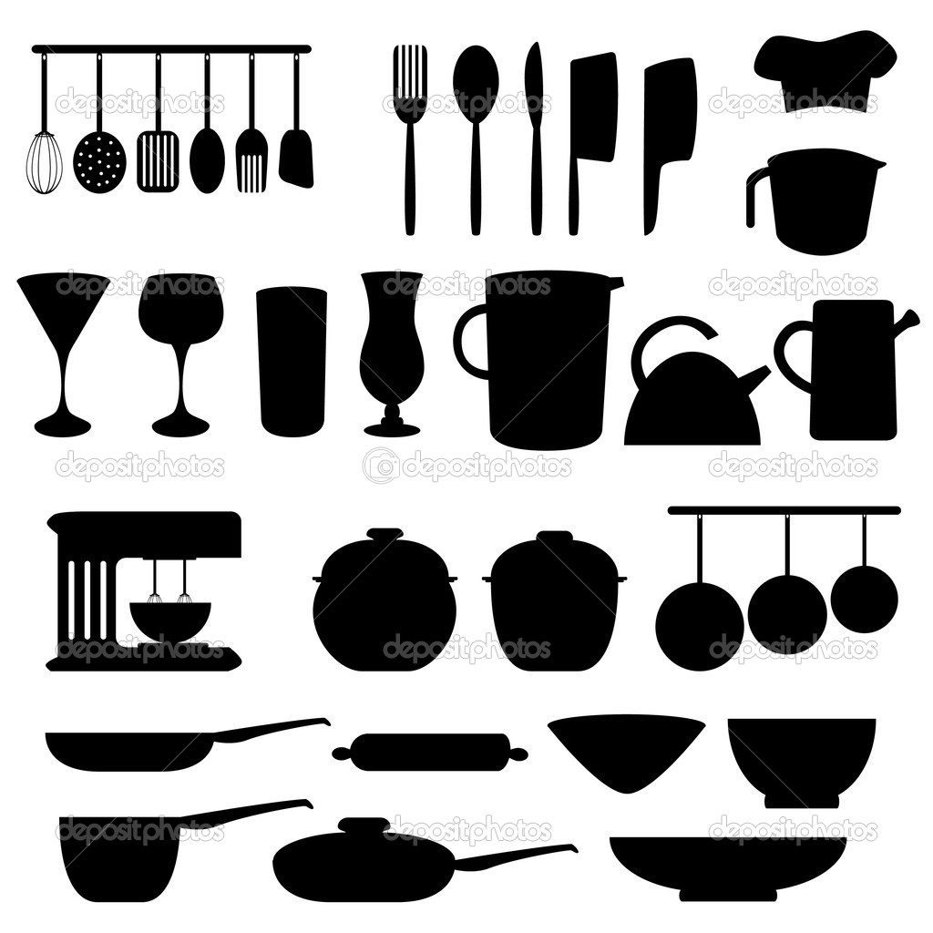 Poster Küche Retro Kitchen Utensils And Tools Stock Vector Soleilc 5984729
