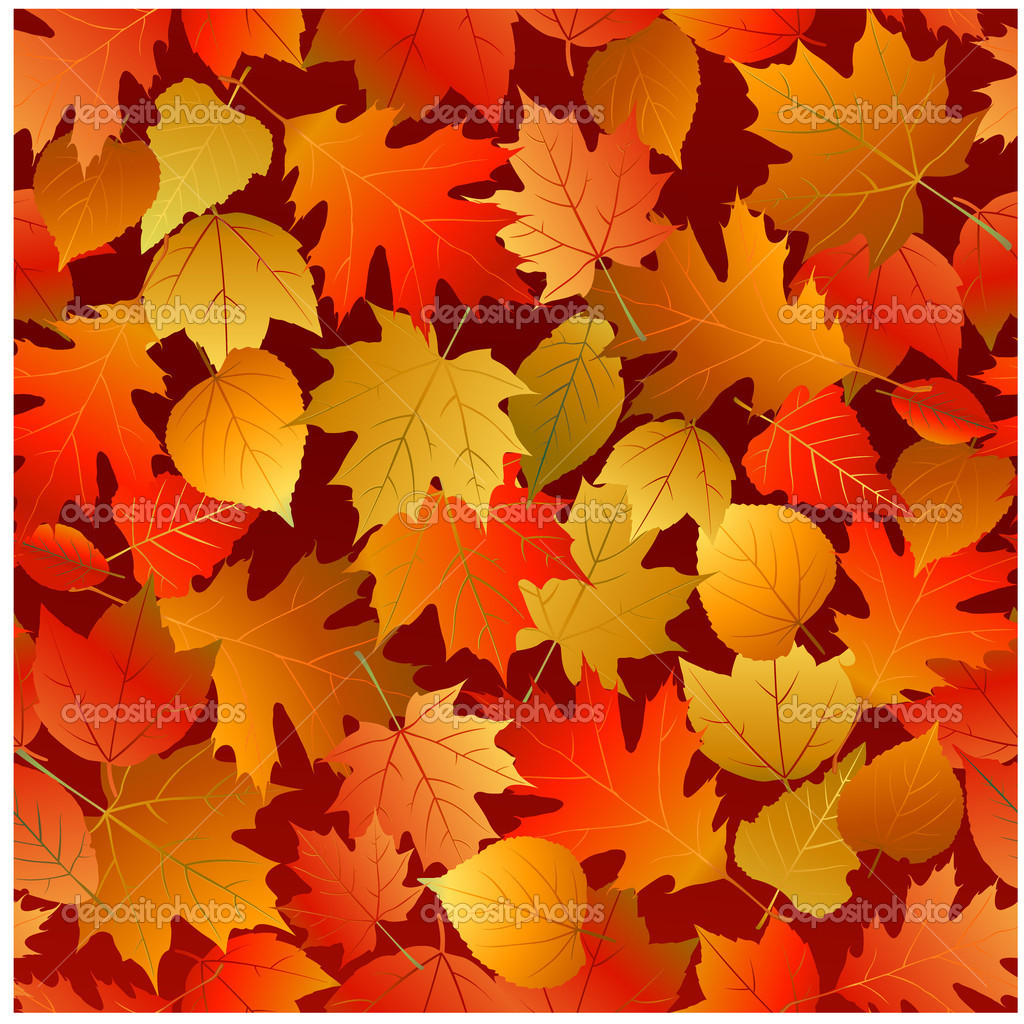 Autumn Falling Leaves Live Wallpaper Seamless Autumn Leaves Pattern Stock Vector