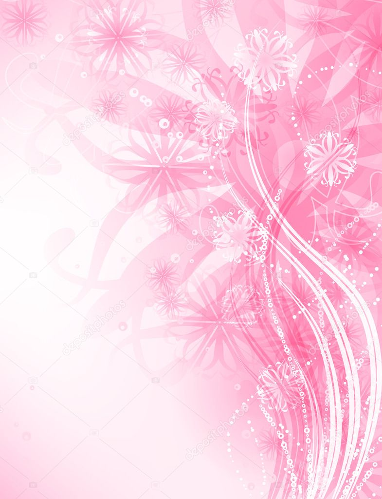 3d Blossoms Live Wallpaper Pink Background Stock Vector 169 Katerinamk 6584279