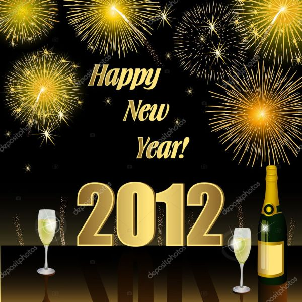 Happy New Year 2012  Stock Image. 1024 x 1024.Google Happy New Year Pictures