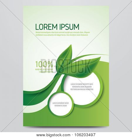 Vector eco flyer, poster, brochure, magazine cover template Modern
