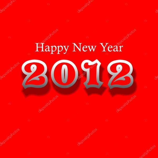 Happy new year 2012 New year design template with red color  Stock . 1024 x 1024.Happy New Years Pictures Color