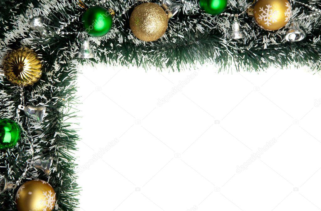 Christmas card background Decoration Border design isolated on