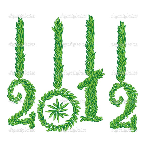 Happy New Year 2012 greeting card  Stock Image. 1024 x 1024.Happy New Year E-cards Free