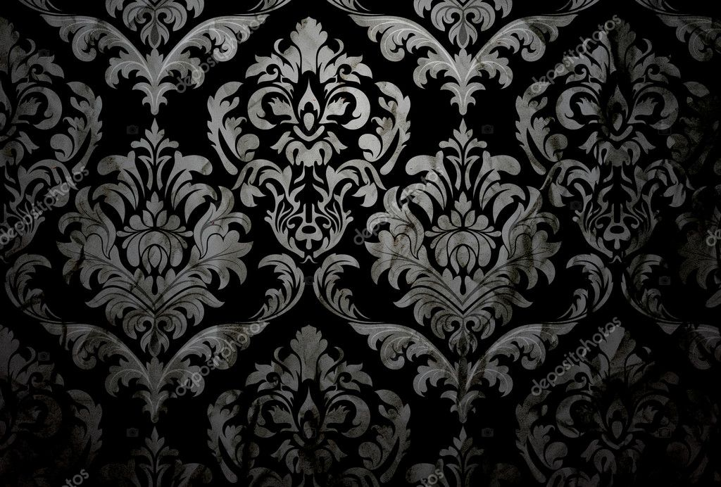 Dark Damask Background \u2014 Stock Photo © baavli #7811910