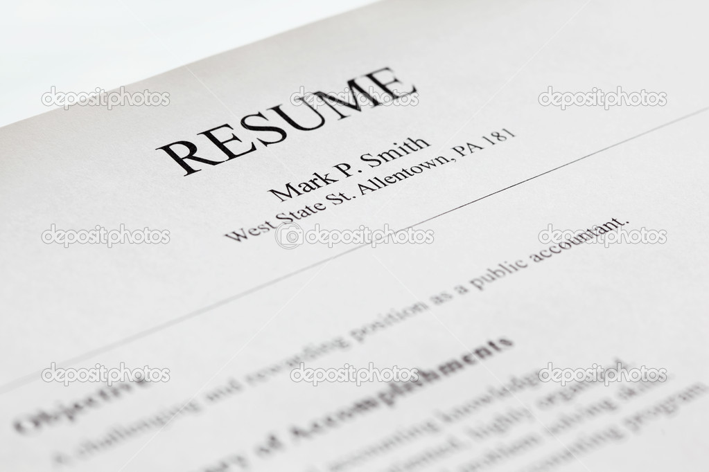 title page for resume xv-gimnazija