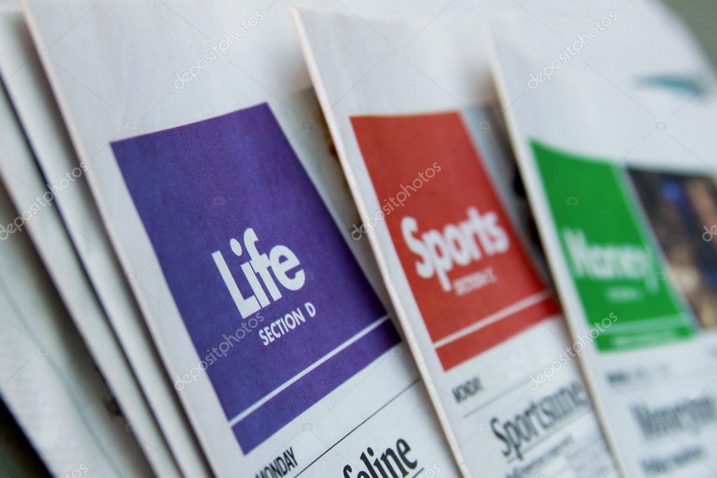 Newspaper sections \u2014 Stock Photo © outline205 #7808526